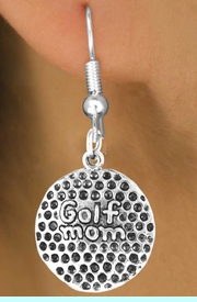 """<bR>             EXCLUSIVELY OURS!!<BR>CLICK HERE TO SEE 65+ EXCITING<BR> CHANGES THAT YOU CAN MAKE!<BR>            LEAD & NICKEL FREE!!<BR>    W409SE - """"GOLF MOM"""" BALL<Br>      & EARRING FROM $4.50 TO $8.35"""
