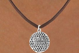 """<bR>             EXCLUSIVELY OURS!!<BR>CLICK HERE TO SEE 65+ EXCITING<BR> CHANGES THAT YOU CAN MAKE!<BR>            LEAD & NICKEL FREE!!<BR>   W409SN - """"GOLF MOM"""" BALL<Br>   & NECKLACE AS LOW AS $4.50"""