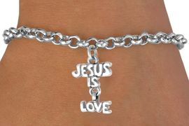 "<bR>             EXCLUSIVELY OURS!!<BR>CLICK HERE TO SEE 65+ EXCITING<BR> CHANGES THAT YOU CAN MAKE!<BR>            LEAD & NICKEL FREE!!<BR>     W411SB - ""JESUS IS LOVE"" &<BR>  BRACELET FROM $4.50 TO $8.35"