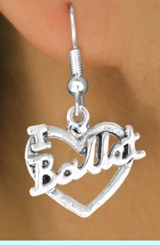 """<bR>             EXCLUSIVELY OURS!!<BR>CLICK HERE TO SEE 65+ EXCITING<BR> CHANGES THAT YOU CAN MAKE!<BR>            LEAD & NICKEL FREE!!<BR>     W412SE - """"I LOVE BALLET"""" &<Br>      & EARRING FROM $4.50 TO $8.35"""