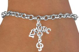 """<bR>             EXCLUSIVELY OURS!!<BR>CLICK HERE TO SEE 65+ EXCITING<BR> CHANGES THAT YOU CAN MAKE!<BR>            LEAD & NICKEL FREE!!<BR>     W413SB - """"I LOVE MUSIC"""" &<BR>       BRACELET AS LOW AS $4.50"""