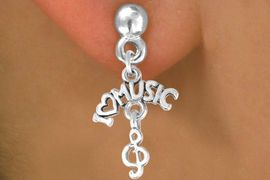 """<bR>             EXCLUSIVELY OURS!!<BR>CLICK HERE TO SEE 65+ EXCITING<BR> CHANGES THAT YOU CAN MAKE!<BR>            LEAD & NICKEL FREE!!<BR>      W413SE - """"I LOVE MUSIC"""" &<Br>      & EARRING FROM $4.50 TO $8.35"""