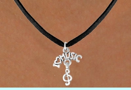 """<bR>              EXCLUSIVELY OURS!!<BR>CLICK HERE TO SEE 65+ EXCITING<BR>  CHANGES THAT YOU CAN MAKE!<BR>             LEAD & NICKEL FREE!!<BR>     W413SN - """"I LOVE MUSIC"""" &<Br>      NECKLACE AS LOW AS $4.50"""