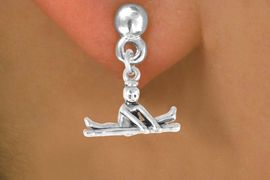 """<bR>                   EXCLUSIVELY OURS!!<BR>     CLICK HERE TO SEE 65+ EXCITING<BR>       CHANGES THAT YOU CAN MAKE!<BR>                  LEAD & NICKEL FREE!!<BR>W418SE - """"BALANCE BEAM GYMNAST""""<Br>           & EARRING FROM $4.50 TO $8.35"""