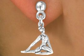 """<bR>              EXCLUSIVELY OURS!!<BR>CLICK HERE TO SEE 65+ EXCITING<BR>  CHANGES THAT YOU CAN MAKE!<BR>             LEAD & NICKEL FREE!!<BR> W419SE - """"FLOOR GYMNAST"""" &<Br>         EARRING FROM $4.50 TO $8.35"""