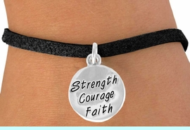"""<bR>             EXCLUSIVELY OURS!!<BR>CLICK HERE TO SEE 65+ EXCITING<BR> CHANGES THAT YOU CAN MAKE!<BR>            LEAD & NICKEL FREE!!<BR>W421SB - """"STRENGTH COURAGE<BR>      FAITH"""" CIRCLE & BRACELET<Br>                 AS LOW AS $4.50"""