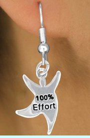 """<bR>              EXCLUSIVELY OURS!!<BR>CLICK HERE TO SEE 65+ EXCITING<BR> CHANGES THAT YOU CAN MAKE!<BR>             LEAD & NICKEL FREE!!<BR> W422SE - """"100% EFFORT"""" STAR<Br>MAN & EARRING FROM $4.50 TO $8.35"""