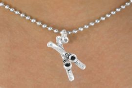 <bR>             EXCLUSIVELY OURS!!<BR>CLICK HERE TO SEE 65+ EXCITING<BR> CHANGES THAT YOU CAN MAKE!<BR>            LEAD & NICKEL FREE!!<BR>     W468SN - SKIES AND BOOTS<Br>       NECKLACE AS LOW AS $4.50