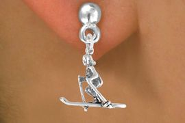 <bR>             EXCLUSIVELY OURS!!<BR>CLICK HERE TO SEE 65+ EXCITING<BR> CHANGES THAT YOU CAN MAKE!<BR>            LEAD & NICKEL FREE!!<BR>        W469SE - FEMALE SKIER<Br>     & EARRING FROM $4.50 TO $8.35