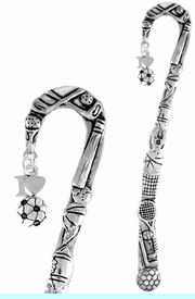 """<bR>              EXCLUSIVELY OURS!!<BR>CLICK HERE TO SEE 65+ EXCITING<BR> CHANGES THAT YOU CAN MAKE!<BR>             LEAD & NICKEL FREE!!<BR>  W654SBM - """"I LOVE SOCCER"""" &<Br>BOOKMARK FROM $3.31 TO $6.25"""