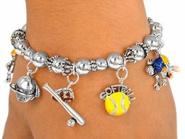 "<BR><B> OUR #1 SELLING BRACELET- ""EXCLUSIVELY OURS""</B><BR><BR>STRETCH BRACELET THAT FITS ALL SIZES, CHILDREN TO ADULTS      <Br>          NICKEL, LEAD, AND POISONOUS  CADMIUM FREE<BR>IT IS WHAT YOU DO NOT SEE THAT MATTERS�<Br>  W2175B-NEW! ""GIRLS SOFTBALL""<BR>STRETCH BRACELET  $7.83 EACH<br> COPYRIGHTED �2003</BR>"