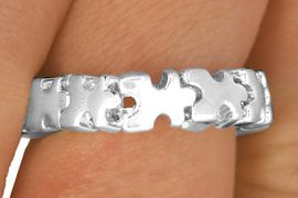 <Br>           EXCLUSIVELY OURS!!!<BR>LEAD, NICKEL AND CADMIUM FREE!<BR>       AN ALLAN ROBIN DESIGN!<Br>W11881R - AUTISM AWARENESS<Br>    PUZZLE PIECE STRETCH RING<Br>   &#169;2010 FROM $3.94 TO $8.75