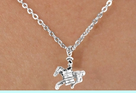 """<bR>                EXCLUSIVELY OURS!!<Br>                LEAD & NICKEL FREE!!<BR>     CLICK HERE TO SEE 65 EXCITING<BR>     CHANGES THAT YOU CAN MAKE<BR>            TO THE JEWELRY ABOVE!<BR>    W331SN - """"BARREL RACING"""" GIRL<br>        & NECKLACE AS LOW AS $4.50"""