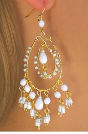 <BR>              EXCLUSIVELY OURS!!!<Br>             LEAD & NICKEL FREE!!!<BR>W11957EA - 2-STYLE WHITE BEAD<Br>     DROP EARRING ASSORTMENT<br>                  AS LOW AS $4.35