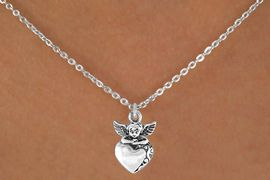 <bR>           EXCLUSIVELY OURS!! <BR>           LEAD & NICKEL FREE!!<BR>       W14484N - CHILDREN'S <br>      12 INCH CHAIN NECKLACE <br>          WITH ANGEL AND HEART<br>    CHARM FROM $3.55 TO $7.50