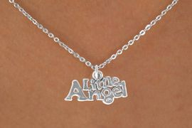 """<bR>           EXCLUSIVELY OURS!! <BR>           LEAD & NICKEL FREE!!<BR>       W14485N - CHILDREN'S <br>      12 INCH CHAIN NECKLACE <br>          WITH """"LITTLE ANGEL""""<br>     CHARM FROM 3.55 TO $7.50"""