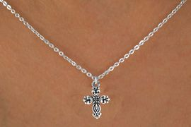 """<bR>             EXCLUSIVELY OURS!! <BR>             LEAD & NICKEL FREE!!<BR>  W14494N - CHILDREN'S 12"""" CHAIN <br>CROSS NECKLACE FROM $3.55 TO $7.50"""