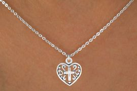 <bR>             EXCLUSIVELY OURS!! <BR>             LEAD & NICKEL FREE!!<BR>          W14495N - CHILDREN'S <br>      12 INCH CHAIN NECKLACE <br>        WITH A CROSS IN A HEART<br>     CHARM FROM $3.55 TO $7.50