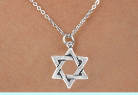 <bR>           EXCLUSIVELY OURS!! <BR>           LEAD & NICKEL FREE!!<BR>       W14497N - CHILDREN'S <br>      12 INCH CHAIN NECKLACE <br>          WITH A STAR OF DAVID<br>      CHARM FROM $3.55 TO $7.50