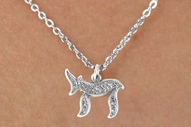 """<bR>           EXCLUSIVELY OURS!! <BR>           LEAD & NICKEL FREE!!<BR>       W14499N - CHILDREN'S <br>      12 INCH CHAIN NECKLACE <br>        WITH A HEBREW """"CHAI""""<br>  CHARM FROM $3.55 TO $7.50"""