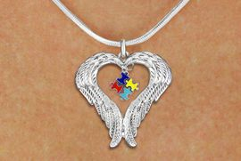 <bR>               EXCLUSIVELY OURS!! <BR>             LEAD & NICKEL FREE!! <BR>W19699N - GUARDIAN ANGEL WINGS <Br>AND AUTISM AWARENESS PUZZLE <BR>CHARM & SNAKE CHAIN NECKLACE <BR>     FROM $5.63 TO $12.50 �2012