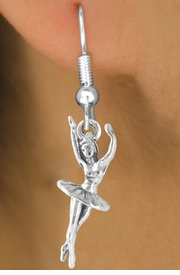 "<bR>   EXCLUSIVELY OURS!! <BR>  LEAD & NICKEL FREE!!<BR> W244SE - ""BALLERINA TWIRL"" <BR>     CHARM EARRINGS"