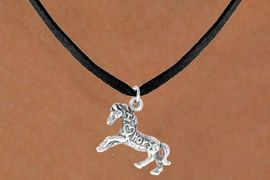"""<bR>                   EXCLUSIVELY OURS!!<Br>                  LEAD & NICKEL FREE!!<BR>   W247SN - """"I LOVE HORSES"""" HORSE<Br>CHARM & NECKLACE AS LOW AS $4.50"""
