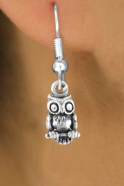 <bR>               EXCLUSIVELY OURS!!<Br>              LEAD & NICKEL FREE!!<BR>W248SE - DETAILED OWL CHARM<Br>    & EARRINGS FROM $4.50 TO $8.35