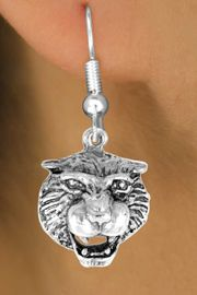 <bR>           EXCLUSIVELY OURS!!<Br>          LEAD & NICKEL FREE!!<BR>W249SE - TIGER HEAD CHARM<Br> & EARRINGS FROM $4.50 TO $8.35