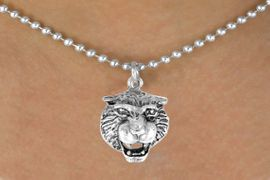 <bR>           EXCLUSIVELY OURS!!<Br>          LEAD & NICKEL FREE!!<BR>W249SN - TIGER HEAD CHARM<Br> & NECKLACE AS LOW AS $4.50