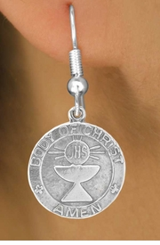 "<bR>            EXCLUSIVELY OURS!!<Br>           LEAD & NICKEL FREE!!<BR>W260SE - ""FIRST COMMUNION""<Br>MEDALLION CHARM & EARRINGS<Br>         FROM $4.50 TO $8.35"