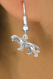 <bR>                 EXCLUSIVELY OURS!!<Br>                LEAD & NICKEL FREE!!<BR>W262SE - TIGER OR BENGAL CHARM<Br>       & EARRINGS FROM $4.50 TO $8.35