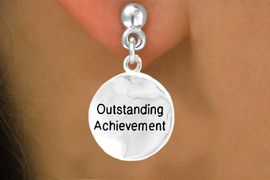 """<bR>       EXCLUSIVELY OURS!!<Br>      LEAD & NICKEL FREE!!<BR> W267SE - """"OUTSTANDING<bR>ACHIEVEMENT"""" & EARRING<BR>           FROM $4.50 TO $8.35"""