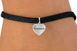 """<bR>         EXCLUSIVELY OURS!!<Br>        LEAD & NICKEL FREE!!<BR>W268SB - """"INSPIRATIONAL""""<Br>  HEART CHARM & BRACELET<br>             AS LOW AS $4.50"""