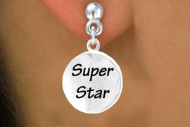 "<bR>          EXCLUSIVELY OURS!!<Br>         LEAD & NICKEL FREE!!<BR>W271SE - ""SUPER STAR"" DISC<Br>& EARRINGS FROM $4.50 TO $8.35"