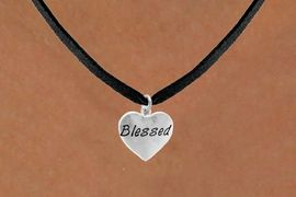 "<bR>           EXCLUSIVELY OURS!!<Br>          LEAD & NICKEL FREE!!<BR>W272SN - ""BLESSED"" HEART &<br>NECKLACE FROM $4.50 TO $8.35"