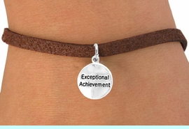 "<bR>         EXCLUSIVELY OURS!!<Br>        LEAD & NICKEL FREE!!<BR>    W277SB - ""EXCEPTIONAL  <bR>ACHIEVEMENT""ROUND CHARM & <bR>   BRACELET AS LOW AS $4.50"