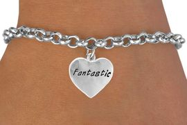 "<bR>            EXCLUSIVELY OURS!!<Br>           LEAD & NICKEL FREE!!<BR>W280SB - ""FANTASTIC"" HEART<Br>  & BRACELET AS LOW AS $4.50"