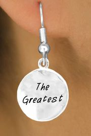"""<bR>       EXCLUSIVELY OURS!!<Br>      LEAD & NICKEL FREE!!<BR>W283SE - """"THE GREATEST""""<Br>EARRINGS FROM $4.50 TO $8.35"""