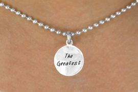"""<bR>        EXCLUSIVELY OURS!!<Br>       LEAD & NICKEL FREE!!<BR>W283SN - """"THE GREATEST""""<br>NECKLACE AS LOW AS $4.50"""