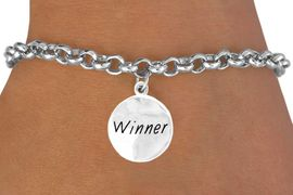 "<bR>          EXCLUSIVELY OURS!!<Br>         LEAD & NICKEL FREE!!<BR> W285SB - ""WINNER"" CIRCLE<bR>& BRACELET AS LOW AS $4.50"