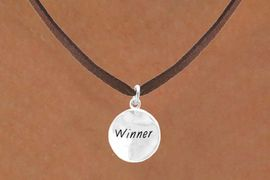"""<bR>           EXCLUSIVELY OURS!!<Br>          LEAD & NICKEL FREE!!<BR> W285SN - """"WINNER"""" CIRCLE<BR>& NECKLACE AS LOW AS $4.50"""