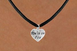 "<bR>                 EXCLUSIVELY OURS!!<Br>                LEAD & NICKEL FREE!!<BR>         W287SN - ""YOU'RE ON FIRE""<Br>HEART & NECKLACE AS LOW AS $4.50"