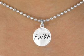 """<bR>          EXCLUSIVELY OURS!!<Br>         LEAD & NICKEL FREE!!<BR>   W294SN - """"FAITH"""" CIRCLE<BR>& NECKLACE FROM $4.50 TO $8.35"""