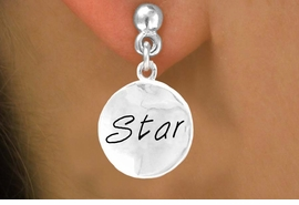 """<bR>        EXCLUSIVELY OURS!!<Br>       LEAD & NICKEL FREE!!<BR>W296SE - """"STAR"""" CIRCLE &<Br>EARRINGS FROM $4.50 TO $8.35"""
