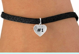 """<bR>       EXCLUSIVELY OURS!!<Br>      LEAD & NICKEL FREE!!<BR>   W299SB - """"#1"""" HEART &<Br>BRACELET AS LOW AS $4.50"""