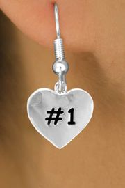 """<bR>       EXCLUSIVELY OURS!!<Br>      LEAD & NICKEL FREE!!<BR>    W299SE - """"#1"""" HEART &<Br>EARRINGS FROM $4.50 TO $8.35"""