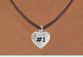 """<bR>       EXCLUSIVELY OURS!!<Br>      LEAD & NICKEL FREE!!<BR>   W299SN - """"#1"""" HEART &<br>NECKLACE AS LOW AS $4.50"""