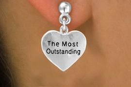 """<bR>           EXCLUSIVELY OURS!!<Br>          LEAD & NICKEL FREE!!<BR>          W309SE - """"THE MOST<Br>OUTSTANDING"""" HEART CHARM<Br> & EARRINGS FROM $4.50 TO $8.35"""