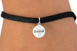 """<bR>            EXCLUSIVELY OURS!!<Br>           LEAD & NICKEL FREE!!<BR> W310SB - """"BELIEVE"""" CIRCLE &<bR>BRACELET FROM $4.50 TO $8.35"""